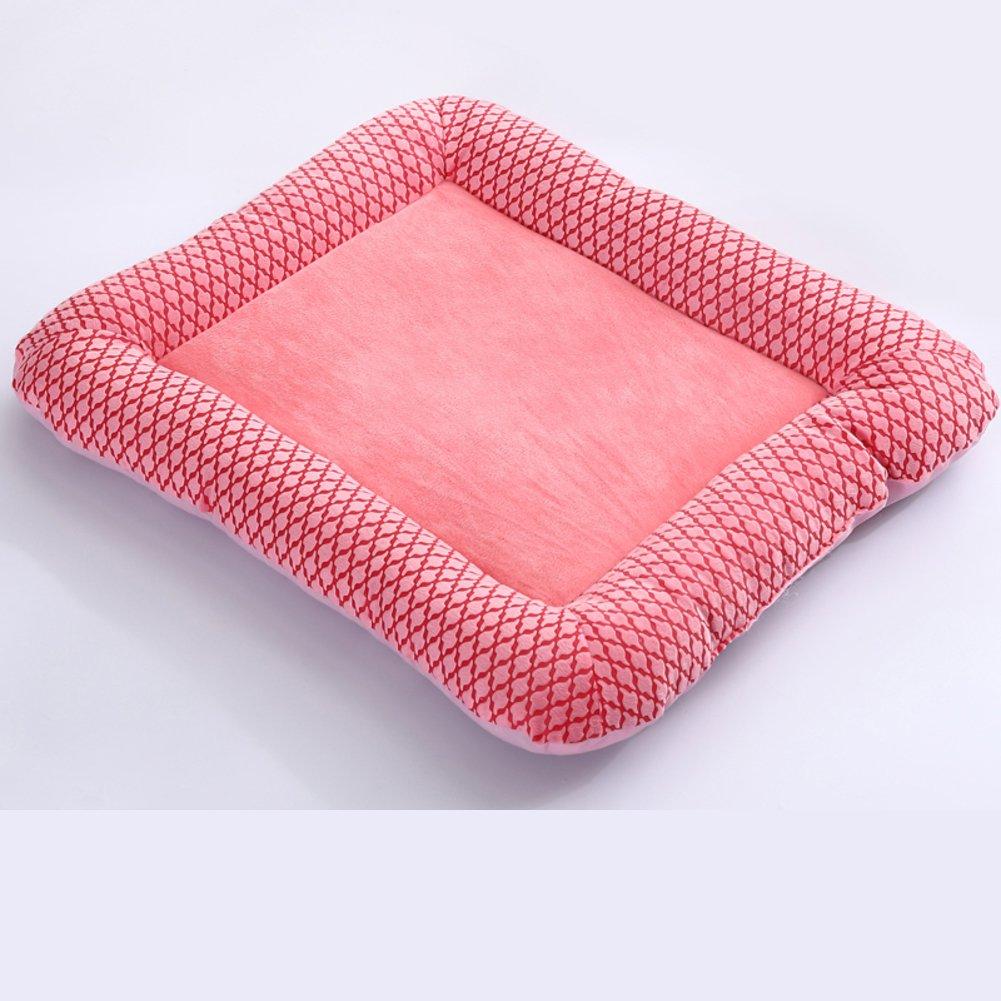 DSAQAO Plush pet dog bed cushion, Square Pet supplies Basket bed cushion-F XL 80x65cm(31x26inch)