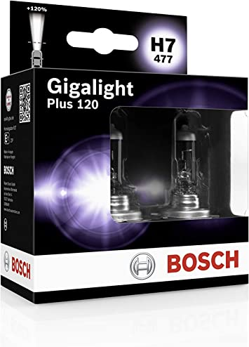 Bosch 1987301107 Glühlampe Gigalight Plus 120 Xenongas H7 12v 55w Px26d 2er Set Auto