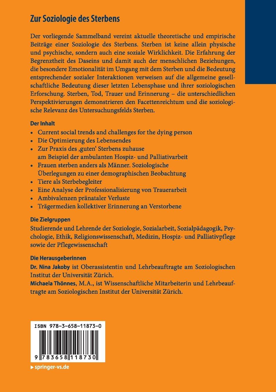 Zur Soziologie des Sterbens: Aktuelle theoretische und empirische ...