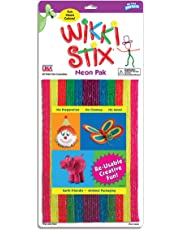 Wikki Stix WIK804 Assorted Art and Craft Pack 48ct, Neon Colors