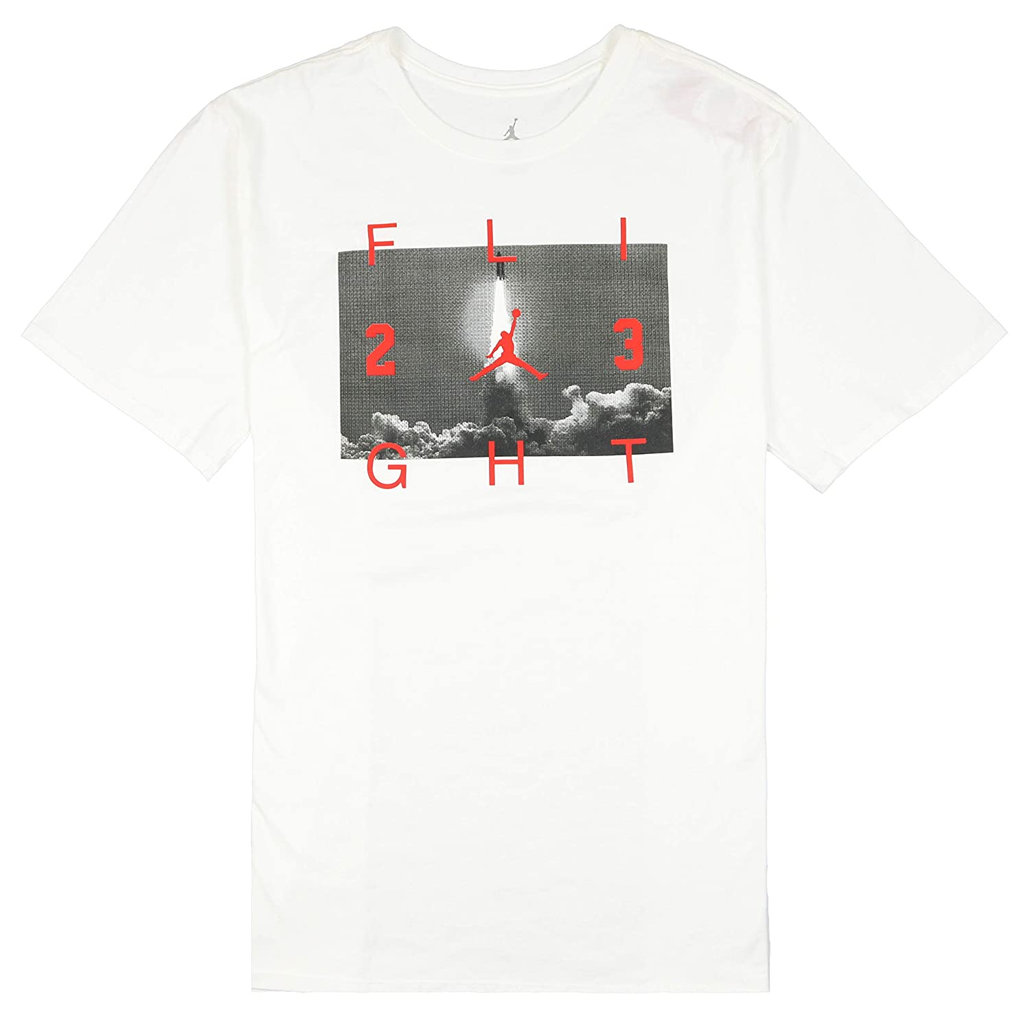 0f67f75f02f4ab Amazon.com  Nike Jordan Men s Flight 23 Lift Off T-Shirt Medium White Red   Sports   Outdoors