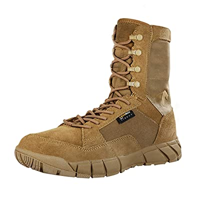 PAVEHAWK Men's 8 inch Tactical Boots Outdoor Casual Lightweight Waterproof Coyote Military Boots for Hiking Work Combat: Shoes