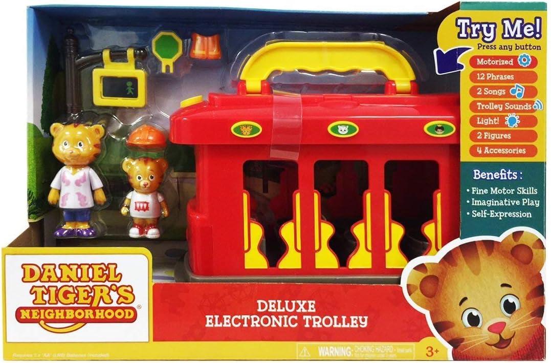 "Daniel Tigers Neighborhood Pull Back Trolley Train Tollytots 7/"" Long"