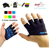 Workout Gloves Weight Lifting Grips with Silicon Padding by RUNTOP - Exercise Gloves Perfect for Women Men Crossfit Training WODS Weightlifting Bodybuilding PowerLifting GYM Fitness
