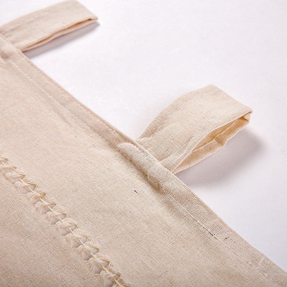 Beige Le bistrot 45 x 150 cm Coton et Lin 152 x 38 cm choicehot Rideau de Cuisine Vintage en Lin /à Brise-bise en Lin avec n/œuds Style Maison de Campagne D/écoration pour la Cuisine