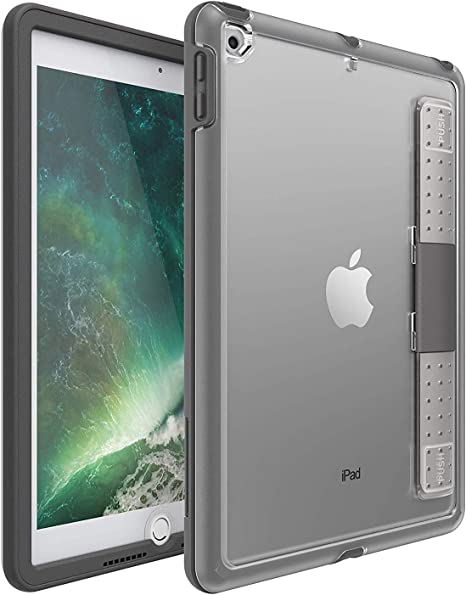 Amazon Com Otterbox Unlimited Series Case Stand For Ipad 9 7 Inch 5th And 6th Gen Non Retail Packaging Slate Grey Computers Accessories