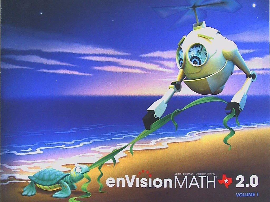 Pearson Texas, enVision MATH 2 0, Grade K, Volume 1, Topics