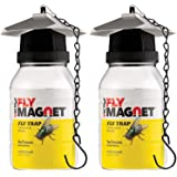 Victor M380 [Set of 2] Reusable Outdoor Fly Traps 32 oz - Fly Magnet Bait Trap - Made in USA - Bundled with 2 Bait…