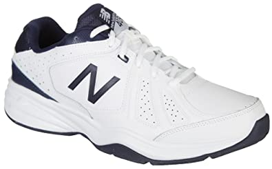 8fa78fb5e752d Image Unavailable. Image not available for. Color: New Balance Men's  Athletic Sneakers Cross Trainer MX409WN3, White/Navy ...