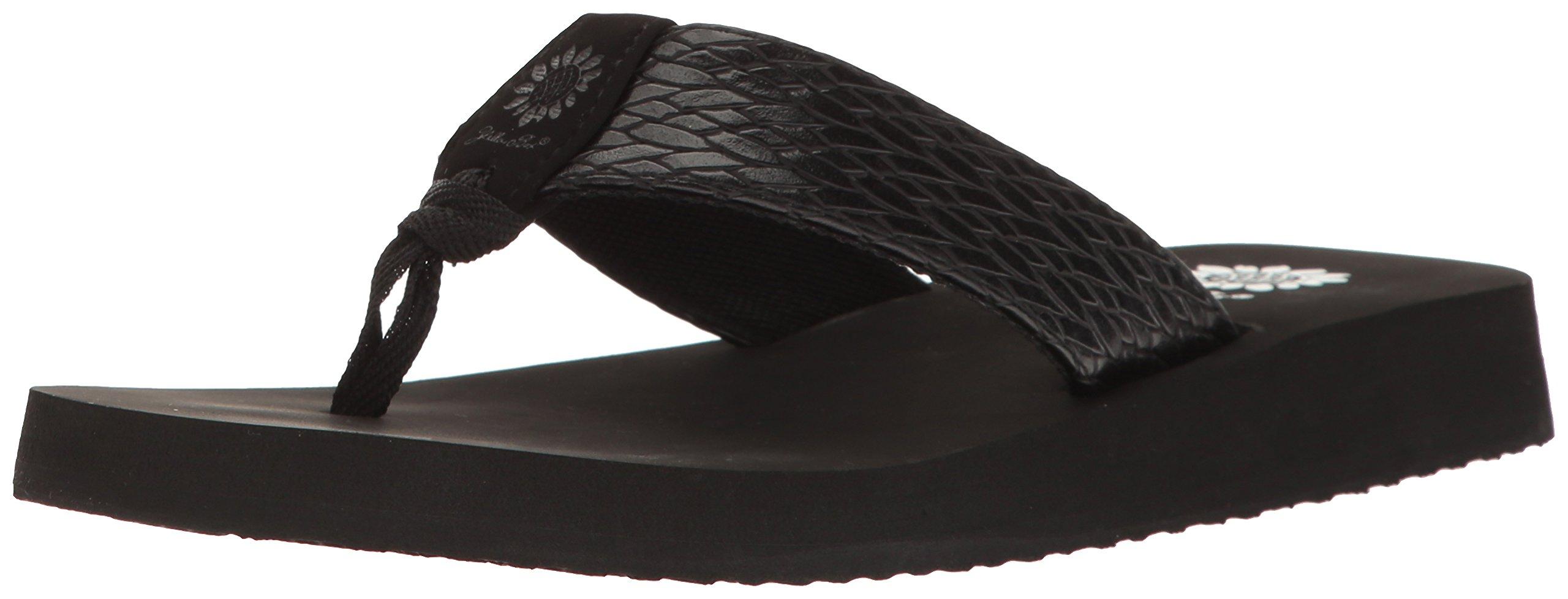 Yellow Box Women's Flax Wedge Sandal, Black, 9 M US