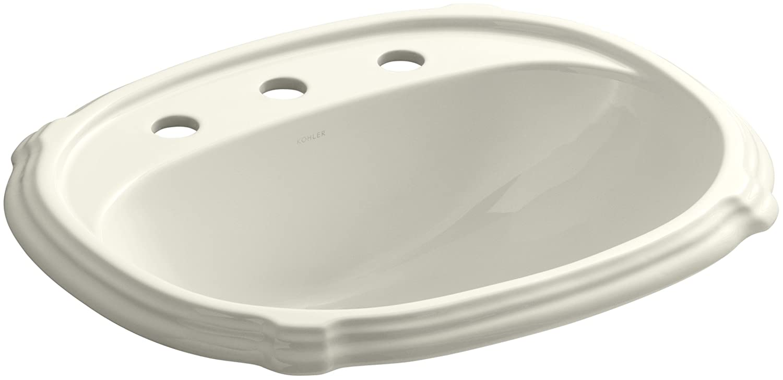 kohler k2189896 portrait selfrimming bathroom sink biscuit bathroom sinks amazoncom
