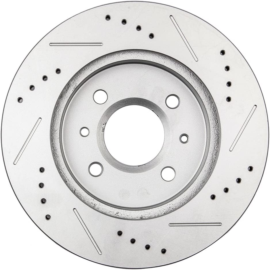 250mm Front Drilled Slotted Brake Rotor fit Saturn SW2 1993-2001