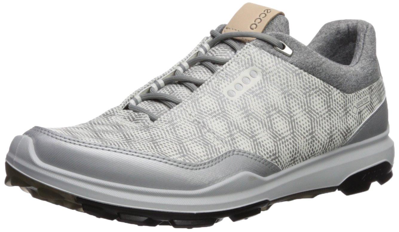 Ecco Mens Biom Hybrid 3 GTX, Zapatos de Golf para Hombre 48 EU|Blanco (White/Silver Metallic 53357)