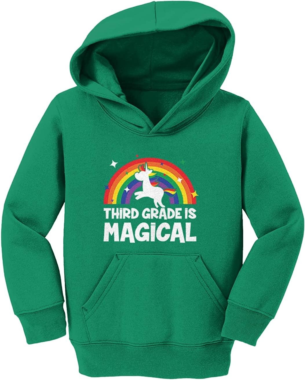 Unicorn Rainbow Toddler//Youth Fleece Hoodie Third Grade is Magical