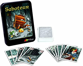 GIGAMIC AMSABO - Desde Cartas de acción y Reflejos Saboteador [Importado de Francia]: Gigamic - AMSABO - Jeu de Cartes dAction et de Réflexes - Saboteur: Amazon.es: Juguetes y juegos