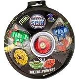 Pack 2 Toupies Spin Metal Power + Lanceur DraccoSpin