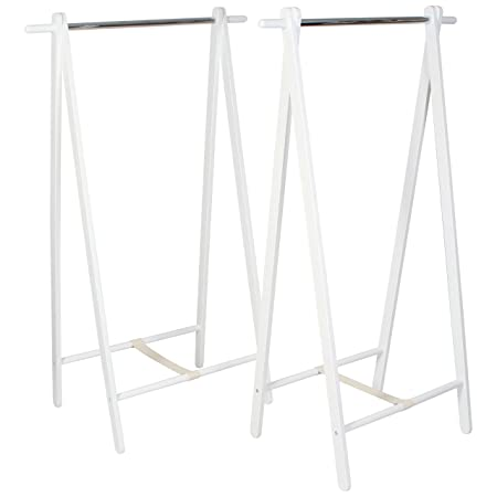 Heavy Duty Wooden Clothes Rack Two Pack Small 60cm/2ft Wide 120cm ...