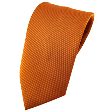 TigerTie - Corbata - naranja signalorange rayas: Amazon.es: Ropa y ...