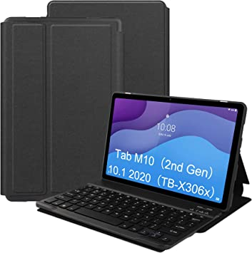 VOVIPO Funda Teclado Español Ñ para Lenovo Tab M10 HD 2ª Gén 10.1, Protectora Cover Funda con Desmontable Wireless Teclado Lenovo Tab M10 HD 2ª Gén ...