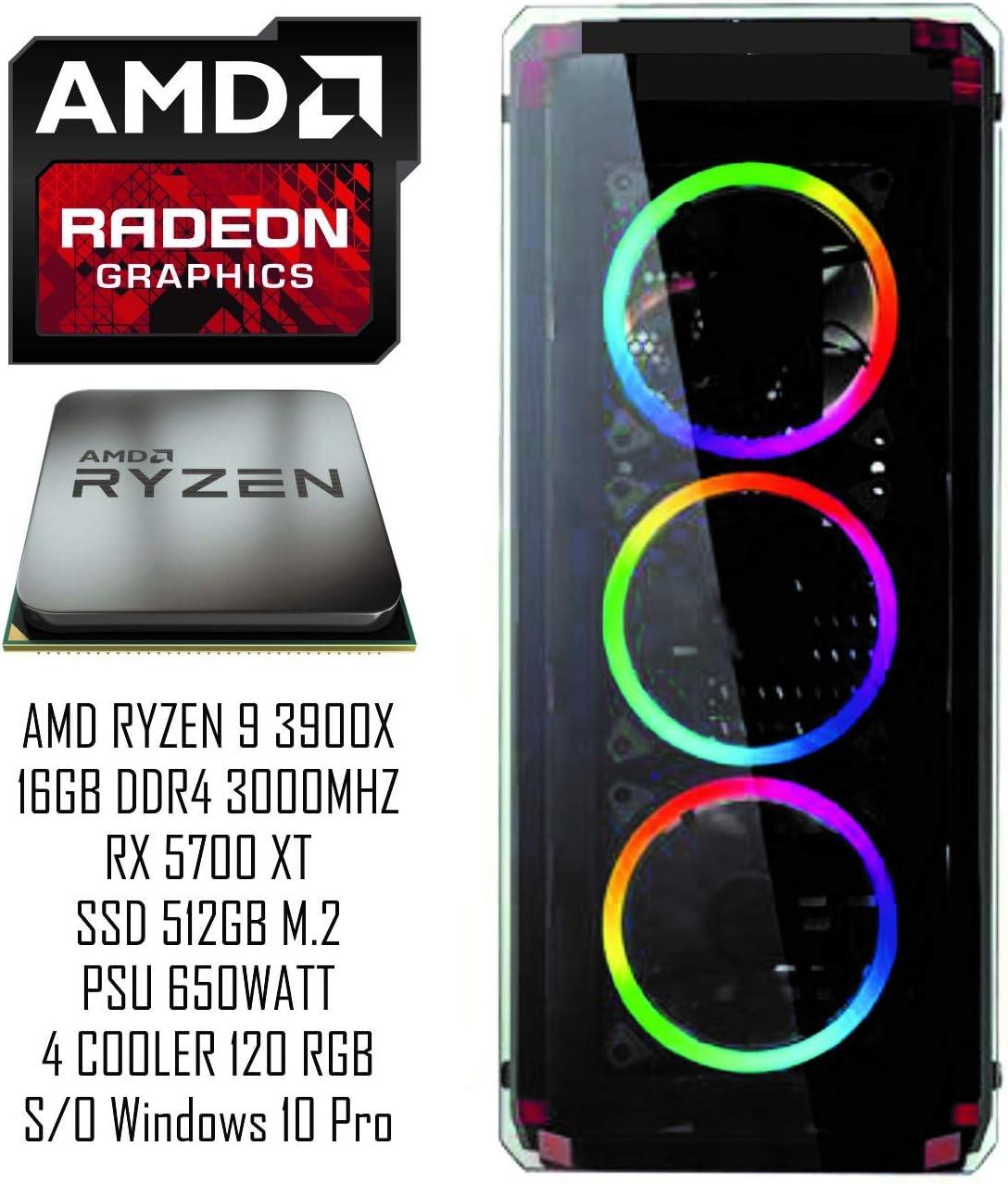 PC Gaming REDI AV4500 G6 39X AMD RYZEN 9 3900X A320M RX 5700 XT DDR4 16GB 3000 SSD M.2 512GB 650WATT Radix: Amazon.es: Informática