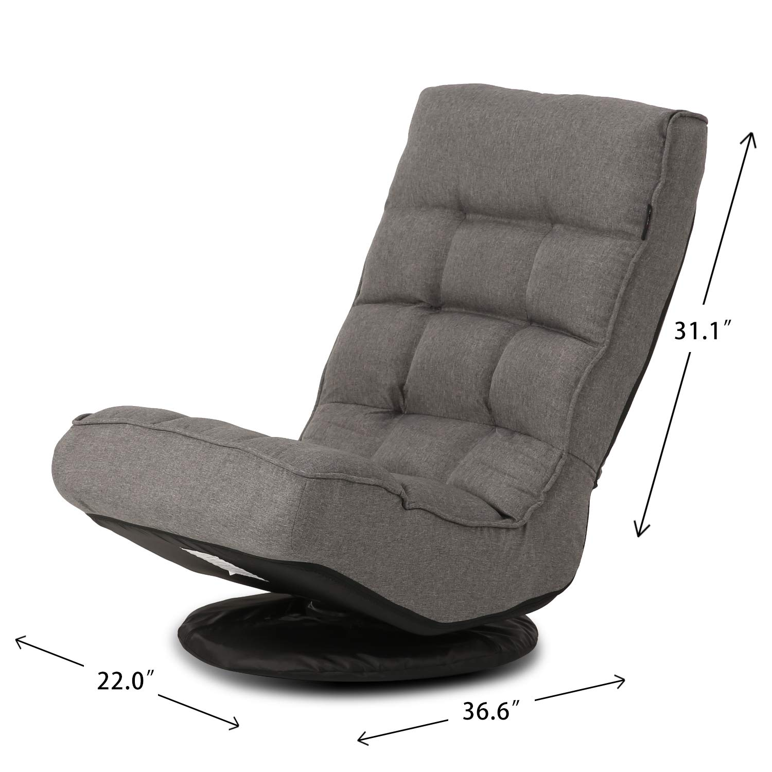 Altrobene Big /& Tall Floor Gaming Chair Rocker//Soft Padded 5-Position Adjustable//Foldable//Great for Watching TV or Gaming//Blue