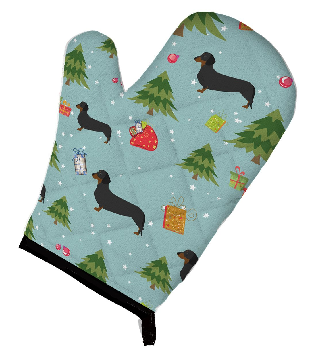 Caroline's Treasures BB4806OVMT Christmas Dachshund Oven Mitt, Large, multicolor