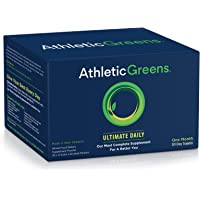 Athletic Greens  Ultimate Daily All In 1 Greens Supplement Complete Greens Powder Drink  Daily Probiotic  Multivitamin Antioxidant Vegan Non GMO GlutenFree 30 Day Travel Packs