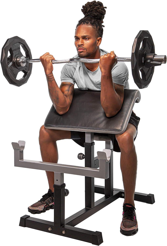 StrengthTech Fitness Adjustable Arm Preacher Curl Weight Bench