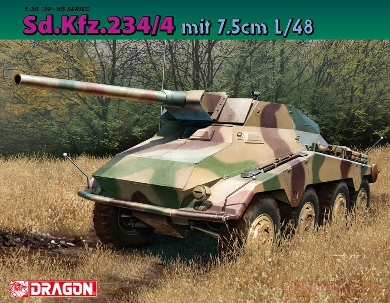 Dragon D6814 SD.KFZ.234 mit 7,5 cm L 48 Kit 1 35 modelloLINO modello Compatibile con
