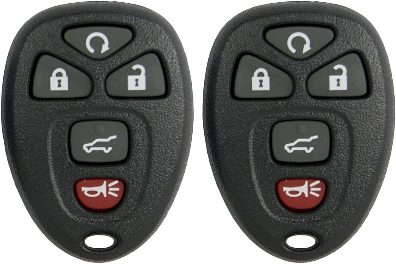 SHELL ONLY Keyless2Go New Replacement Shell Case and 5 Button Pad for Remote Key Fob with FCC KOBGT04A