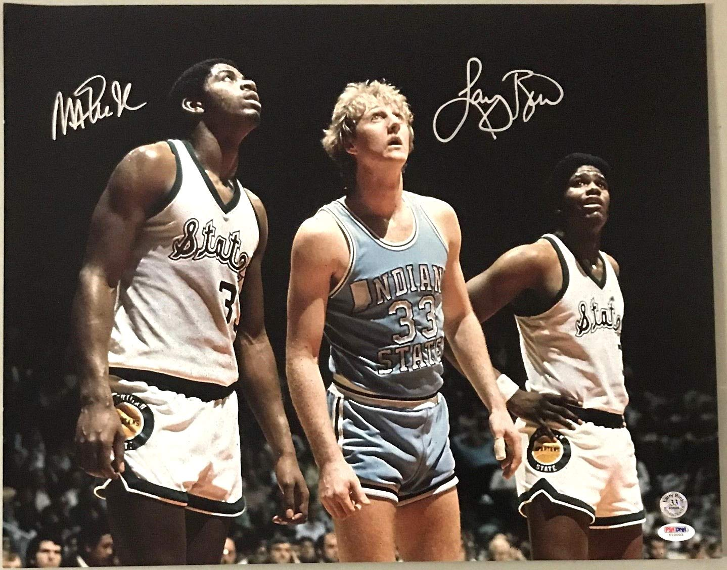 Larry Bird & Magic Johnson reprint 8x10 Photo Michigan State vs Indiana State