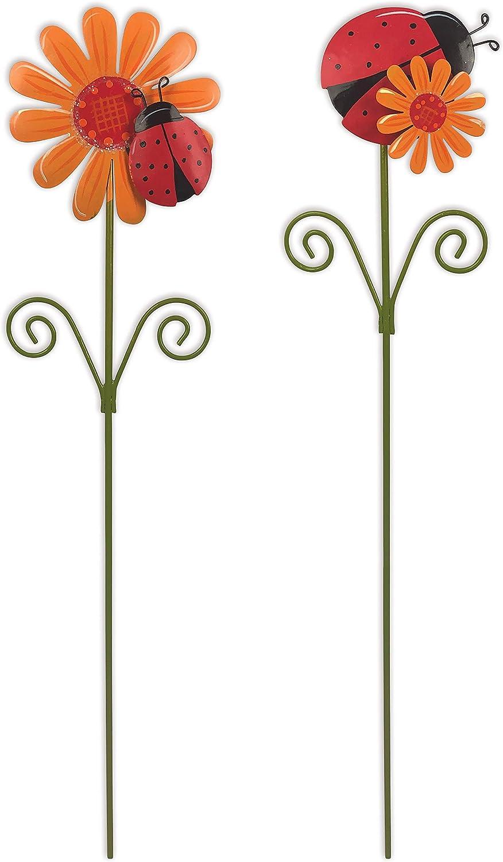 Sunset Vista Designs 12 Country Garden Plant Picks, Ladybug/Flower