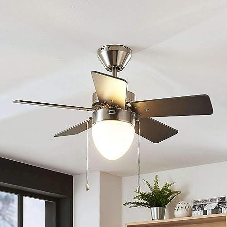 Ventilador de techo con lámpara Ante (Moderno) en Gris hecho de ...