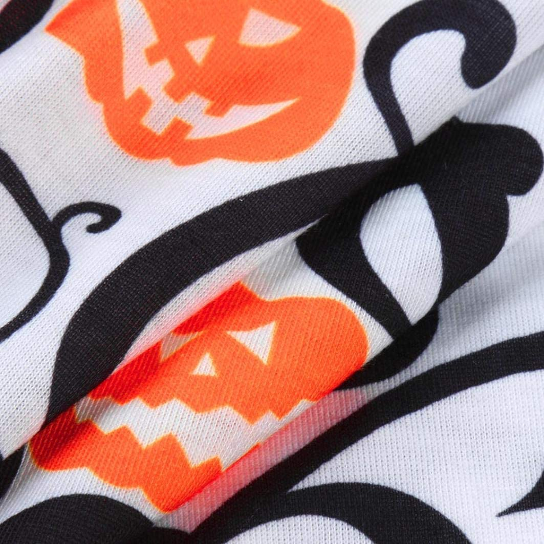 Memela Baby Clothes,Mother/&Me Baby Halloween Pumpkin Print Tops Tshirt Pants Family Matching Sets