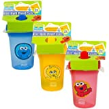 Sesame Street Sesame Beginnings 8oz. Spill Proof Cups - Big Bird, Cookie Monster and Elmo (3-Pack), Multicolored