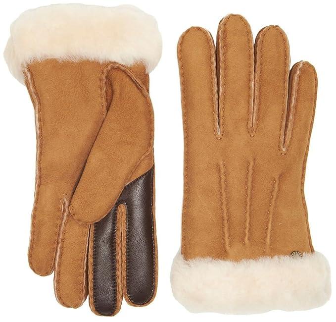 d9fa8c4b8f1 UGG Women's Carter Waterproof Sheepskin Tech Gloves Chestnut MD ...
