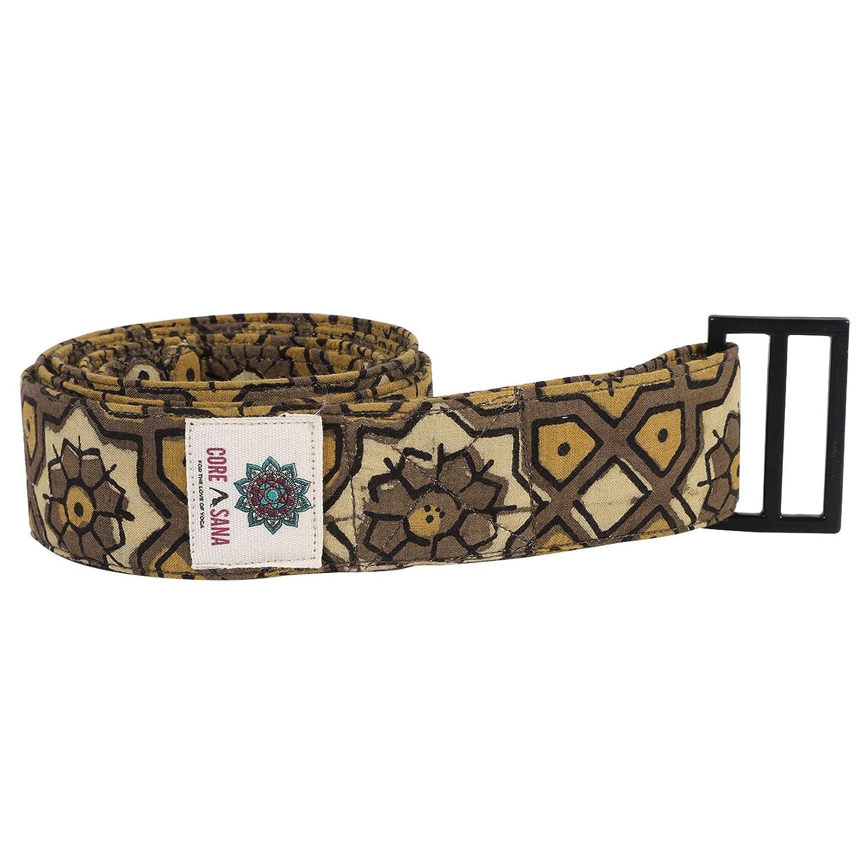 Amazon.com: Ajrak Hand Block Printed Yoga Straps | Yoga Belt ...