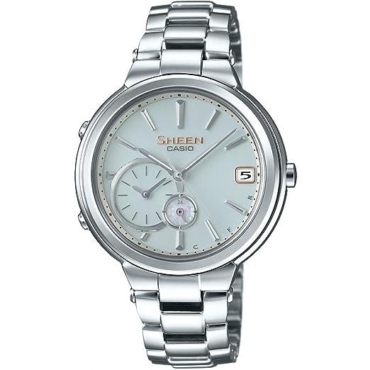 Casio Reloj Analógico para Mujer de Energía Solar con Correa en Acero Inoxidable SHB-200D-7AER: Amazon.es: Relojes