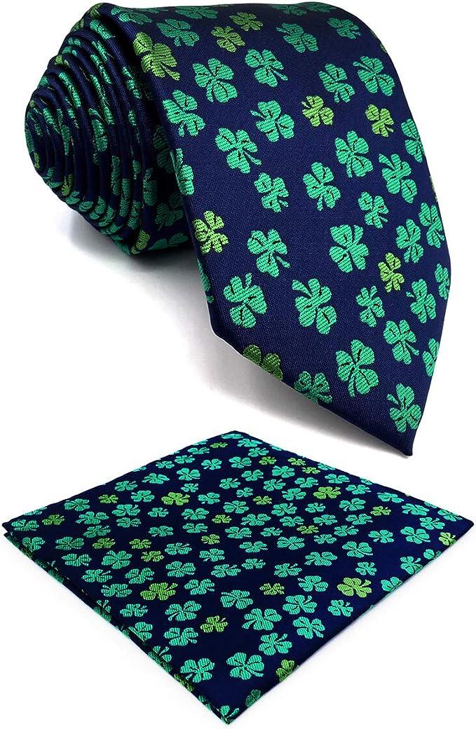 SHLAX&WING Corbatas Para Hombre Teal Azul Verde Extra Largo 160cm ...