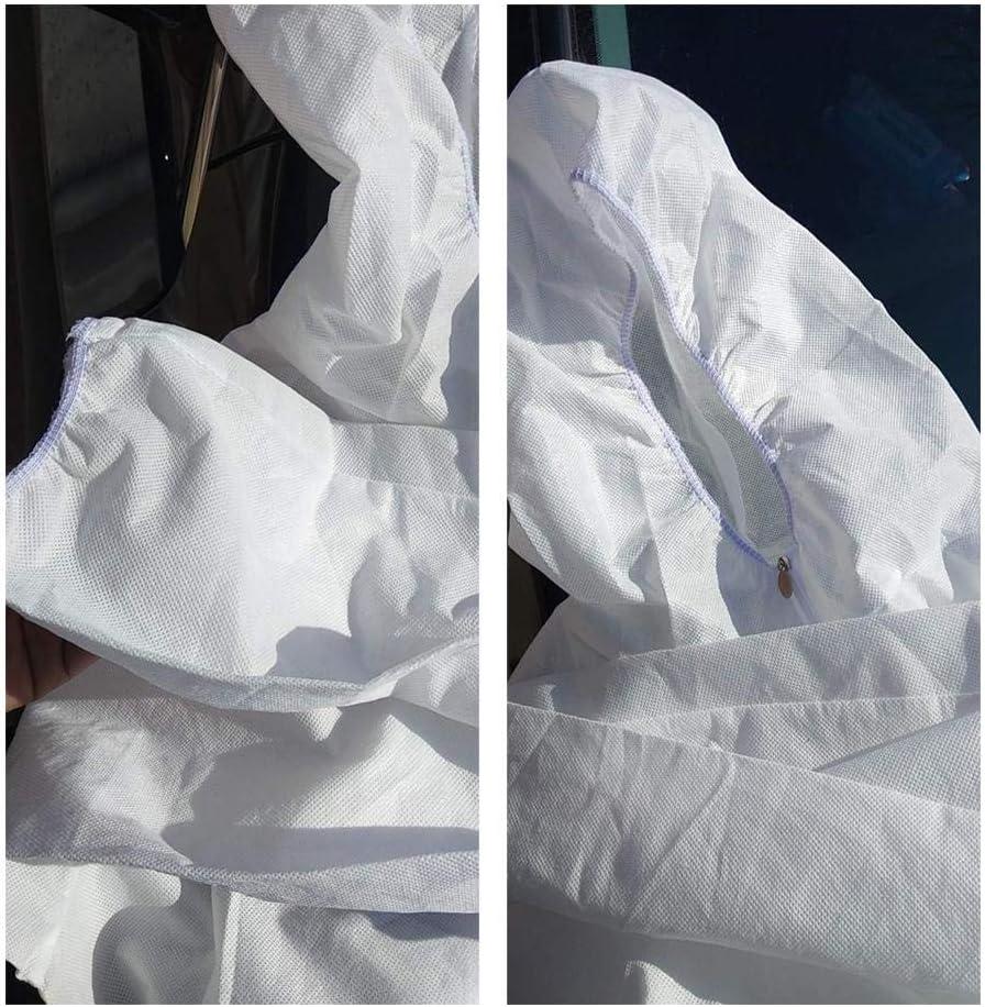 Rikey Combinaison de Protection jetable avec Poignets /élastiques Blanc Combinaison de Cyclisme dint/érieur en Plein air v/êtement de Protection avec Capuche pour Hommes Capuche et Bottes attach/ées