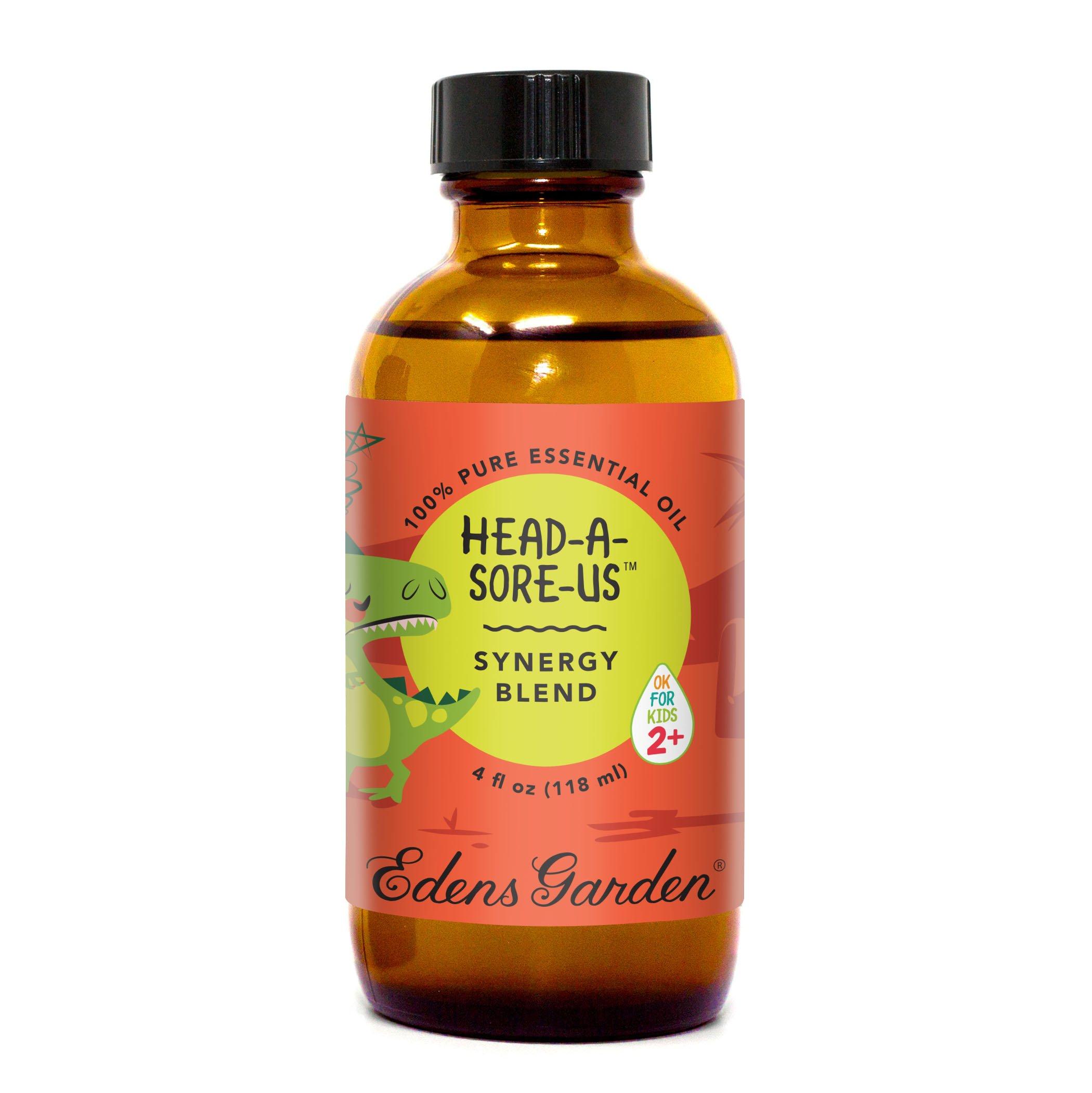Edens Garden Head-A-Sore-Us''OK For Kids'' Essential Oil Synergy Blend, 100% Pure Therapeutic Grade (Child Safe 2+, Headache & Sleep), 118 ml