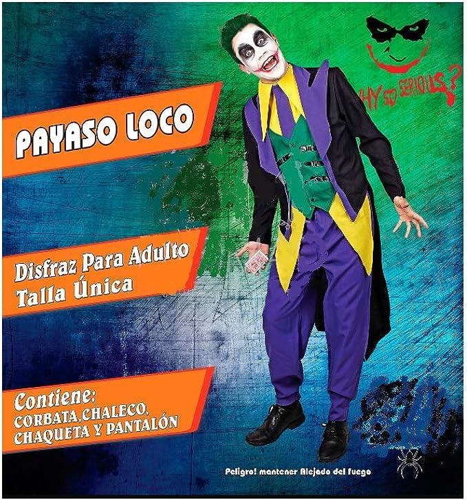 DM Disfraz de Payaso/Diabólico/Asesino. Incluye: Cuello con ...