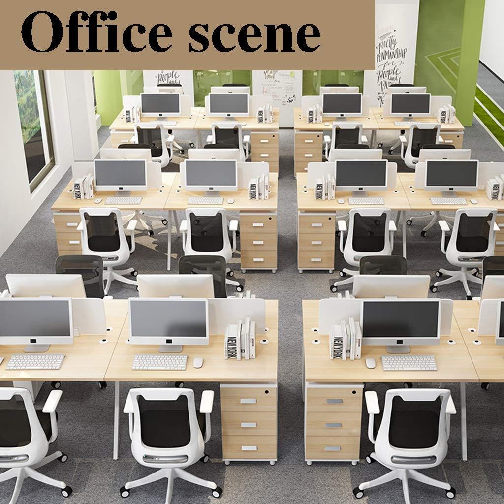 ZZHZY BBGS svängbar kontorsstol, hem studentstol, ergonomisk stol, nät ryggstöd bord och stolar, höjd justerbar,5 färger (färg: C) D