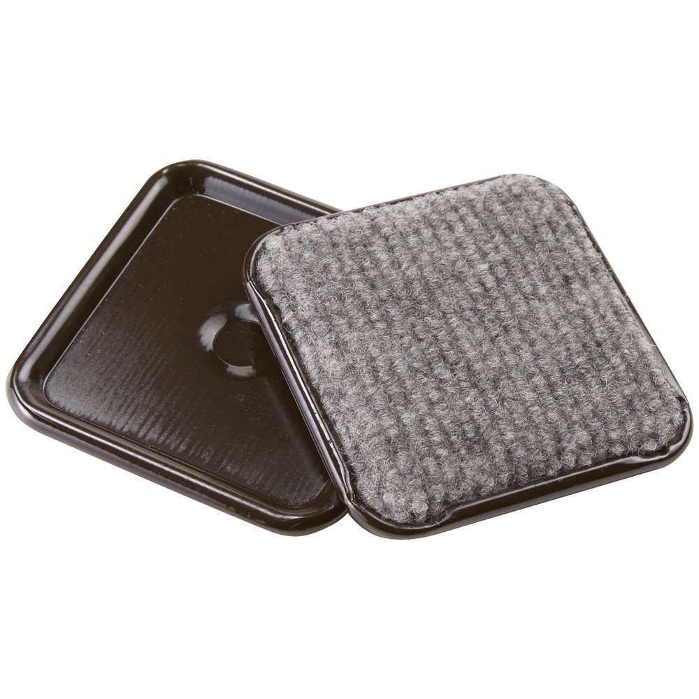 Furniture Caster Cups with Carpeted Bottom for Hard Floor Surfaces (4 piece) - 2-1/2 Square, Brown Waxman Consumer Products 4291995N