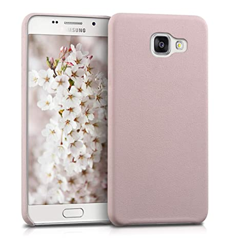 kwmobile Case for Samsung Galaxy A5 (2016) - Soft Durable Shockproof Premium PU Leather Smartphone Back Cover - Dusty Pink