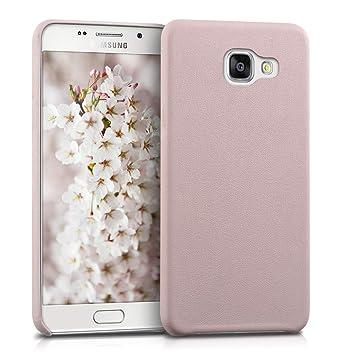 kwmobile Funda para Samsung Galaxy A5 (2016) - Carcasa de Cuero sintético para móvil - Cover Trasero en Rosa Palo