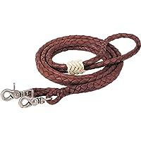 Weaver Leather 50–1750Latigo rienda de Roper Trenzado de Redondo, café, 3/20.3cm X 8'