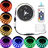 Amazon Price History for:Led Strip Lights Battery Powered,abtong RGB Led Strip Rope Lights Waterproof Led Lights With Remote Control Flexible Led Strip Lighting-2M/6.56ft