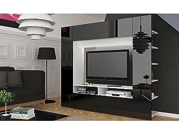 AuBergewohnlich Wohnzimmer Entertainment Wohnwand U2013 Hochglanz Moderne U2013 TV Schränken,  Regalen U0026 LEDs U2013 Eli