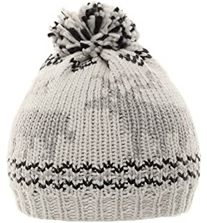 8d139f4ff4e Cooper Fair Isle Knitted Pattern Wool Blend Bobble Hat (Brown or ...